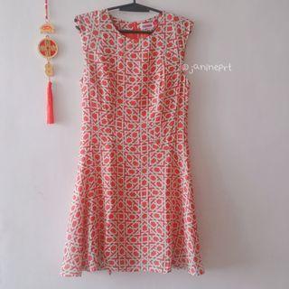 Preloved Red-Orange Dress
