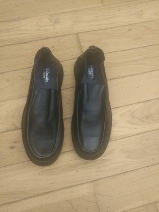 All soft leather black dress shoes