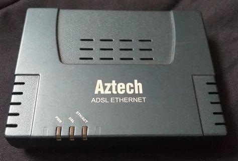 Used AZTECH ADSL Ethernet Router DSL600E