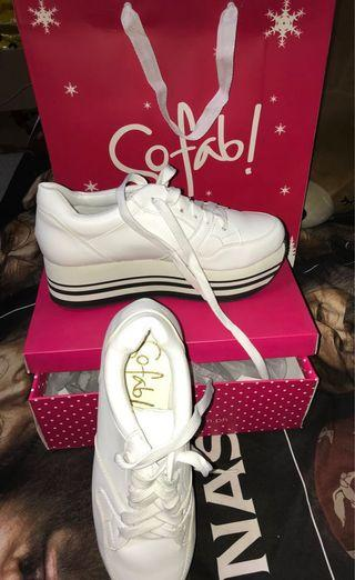 used once so fab white shoes