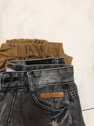 mid-rise denim shorts/ ulzzang trousers