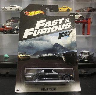 Hotwheels Fast & Furious Nissan Skyline Hakosuka