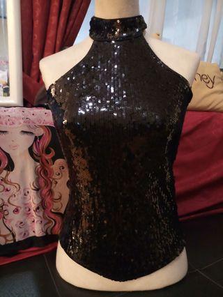 Black Top sexy sequin