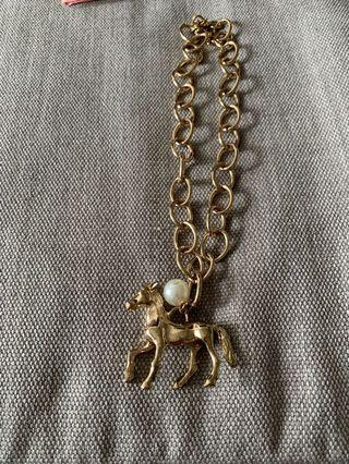 🚚 Statement necklace with horse