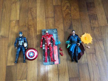 Marvel legends 10th captain America Ironman dr strange