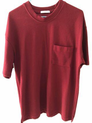 Top in wine red