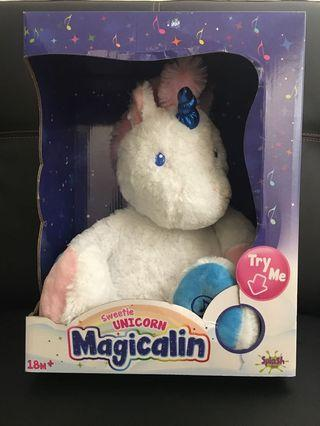 Unicorn soft toy with melody