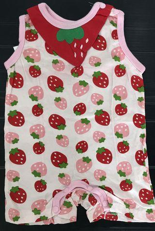 🚚 Strawberry baby romper (clearance sales)