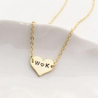 Personalised Heart Shape Necklaces