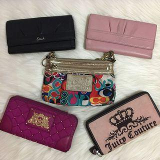 Coach & Juicy Couture Long Wallet