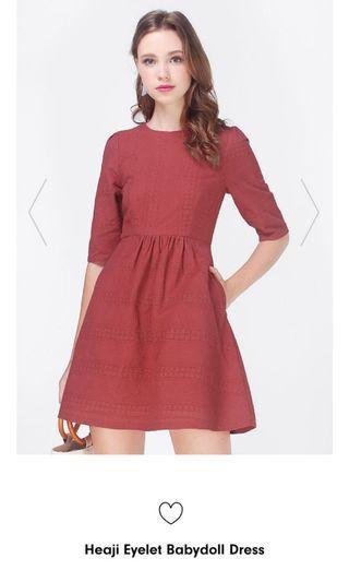 Fayth Heaji Eyelet Babydoll Dress (Size S)
