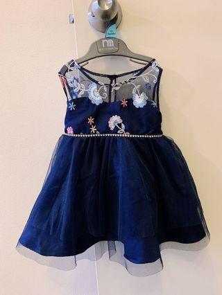 Navy blue elegant dress