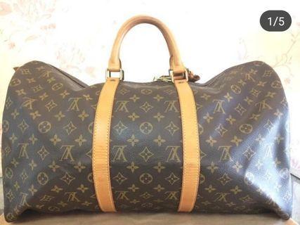 Authentic Louis Vuitton keepall 50 Monogram