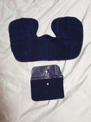 Travel kit - neck pillow and eye mask