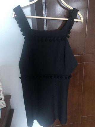 Black overall Zara