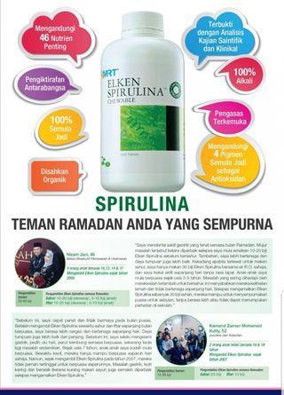 Spirulina superfood energy for Ramadhan n everyday