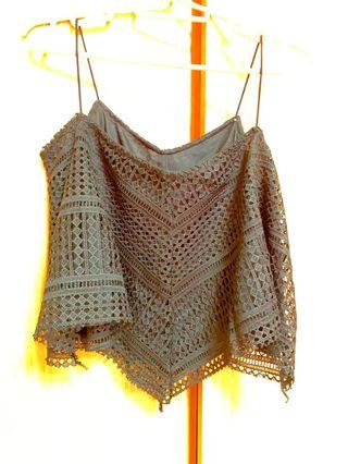 Black Crotchet Top