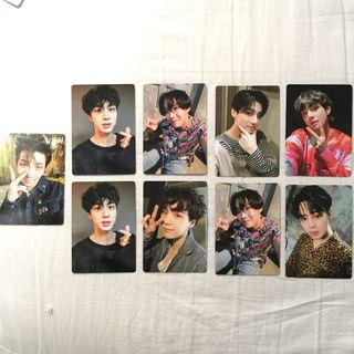 wts bts official army bomb photocards