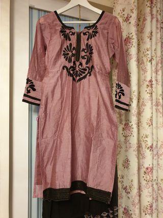 Silk Punjabi Suit (top, pant & scarf) FOC smartpac delivery