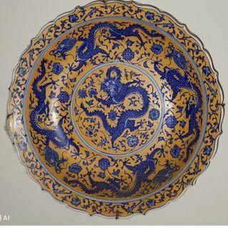 18th Century Canton Enamel plate