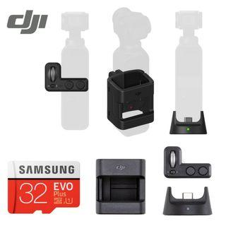DJI Original Expansion Kit Wireless Module + Accessory Mount + Controller Wheel + 32GB MicroSD Memory Card for OSMO POCKET (Brand New and Sealed)