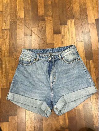 Monki Denim Shorts - Blue