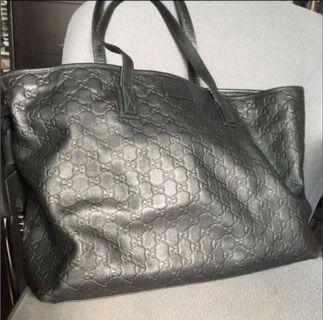 Gucci GG 壓紋全皮Tote bag