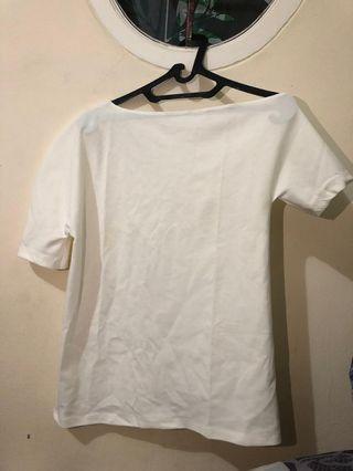 off shoulder top(white)