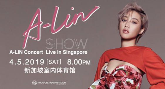 WTB 3 tickets A-lin concert