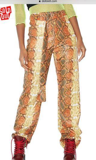 I AM GIA SHIRAZ ORANGE PANTS