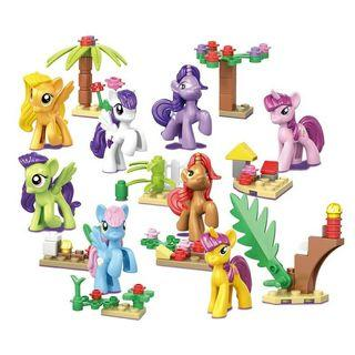 8 In 1 🌈 My Little Pony Building Blocks Action Figures Set Kids Toy Gift