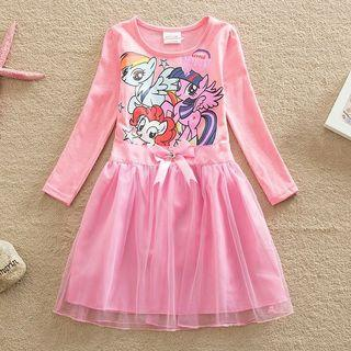 [Ready Stock] 🌈 My Little Pony Long sleeve Lace Dress Girls Clothing