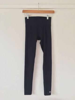 Champion black gym tights leggings size xs