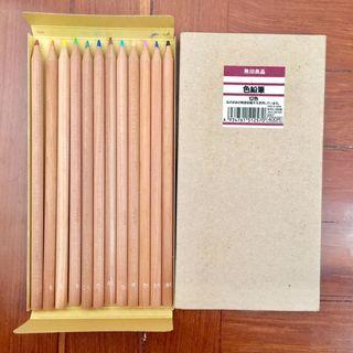 MUJI,Stationary,12 Colors Pencils,Made in Japan,Vintage,Packing,Label,無印良品,文具,12色,木製,顏色筆,色鉛筆,舊招紙,舊版,日本製造