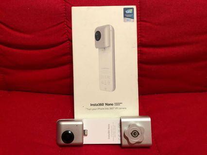 (已預訂保留)Insta360 nano 全景運動攝影機(iphone專用)+原廠專用底座 vr