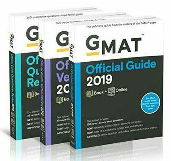 (Brand New) GMAT Guidebooks Bundle 2019