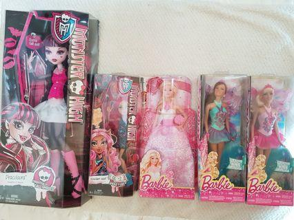 Barbie & Monster High bundle x5 TAKE ALL