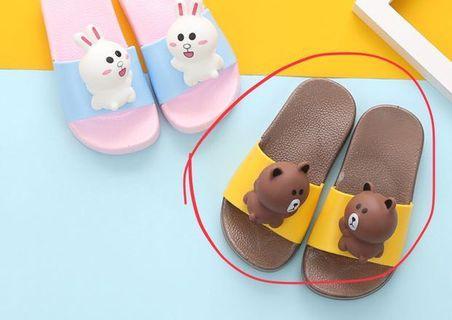 🚚 全新男童女童室內拖浴室拖鞋子(17cm)
