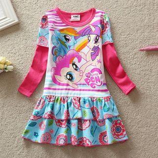 [Ready Stock] 🌈Girls My Little Pony Dress Cartoon Long sleeve Clothing