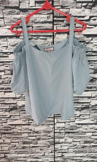 Off Shoulder Grey Top