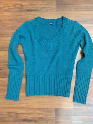 Emerald green Terranova Knit Blouse Top