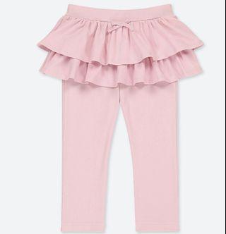 🚚 Uniqlo 小女童荷葉邊裙長褲