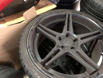 "STAGGERED RIMS 19"" 5x114.3 WITH TYRES"