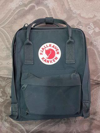 100% Auth Kanken Mini Backpack in Grey
