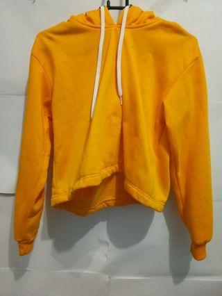 Yellow Hoodie Crop H&M Lookalike