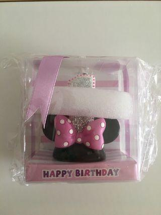 Minnie Mouse number 1 candle
