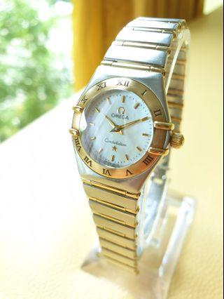 Omega Constellation Mini Ladies Mother of Pearl Dial Gold Steel Quartz