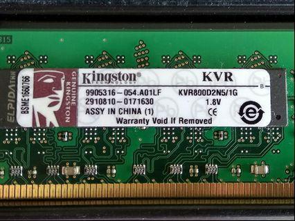 DDR2 800 RAM 2 x 1GB