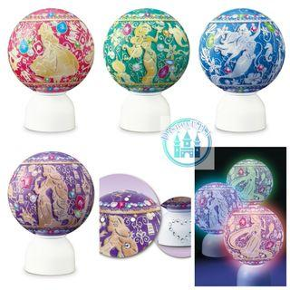 🇯🇵JP disneystore LED 3D puzzle 球型砌圖燈 共4款 ariel/repunzel /茉莉/alice  60塊砌圖😁 size直徑7.6cm
