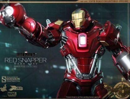 HOT TOYS IRONMAN 3 IRON MAN RED SNAPPER MARK 35 PPS 002 POWERPOSE